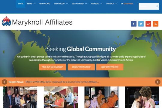 A NGO community website in two languages